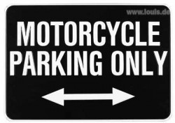 MOTORCYCLE PARKING ONLY - semn metalic