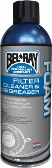 Bel Ray degresant Foam Filter Cleaner & Degreaser, spray 400ml