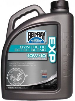 Bel Ray EXP Synthetic Ester Blend 4T Engine Oil 10W40, 4 litri