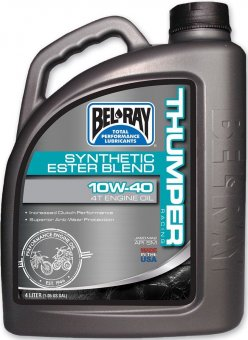 Bel Ray Thumper Racing Syn Ester Blend 4T Engine Oil 10W40, 4 litri
