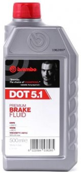 Brembo Premium brake fluid DOT 5.1, 500 ml