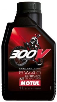 Motul 300V Off Road 5W40 Factory Line, 1 litru