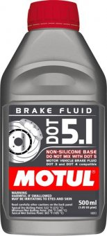 Motul DOT 5.1 Brake Fluid, 500 ml
