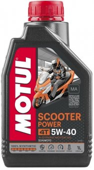 Motul Scooter Power 5W40, 1 litru