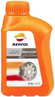 Repsol Moto DOT4 Brake Fluid, 500 ml
